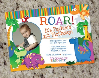 Dinosaur Invitation - Printable Design - Kids Birthday