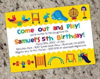 PLAYGROUND Themed - Birthday Party Invitations - Printable Design