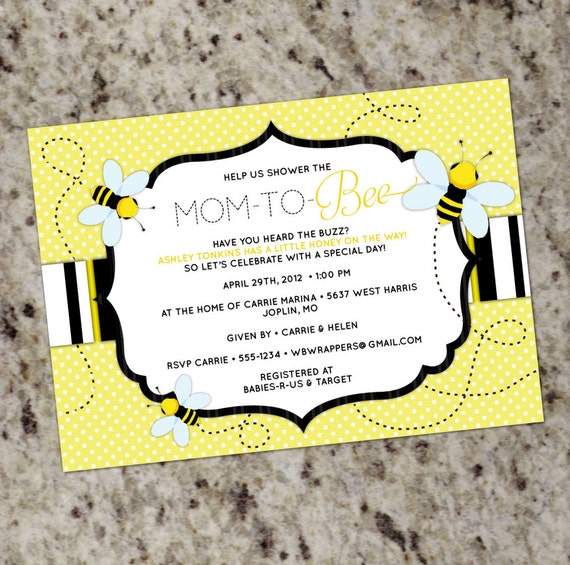 bee baby shower invitation mom to bee, Baby shower invitations