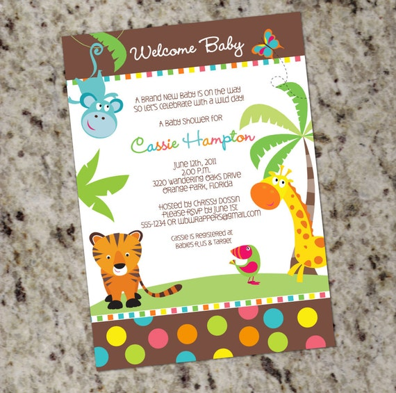 Safari Themed Invitations as awesome invitations layout