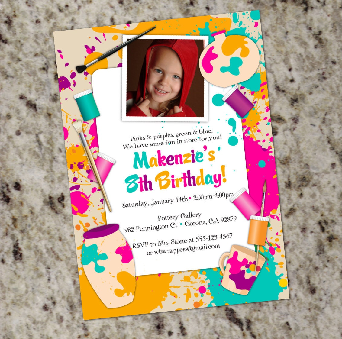 Pottery Painting Birthday Party Invitations was perfect invitation ideas