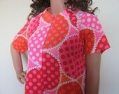 Memorial Day Sale Bright and Funky Vintage House Dress by David Brown for Lord and Taylor California