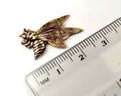 3 pcs Brass Ox plated Bumble Bee charms