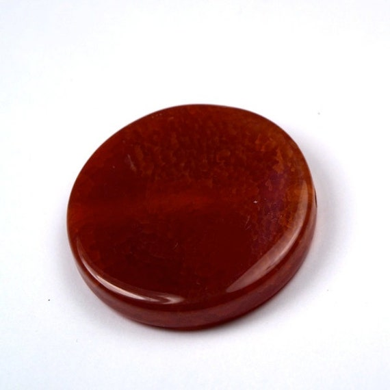 1 Pc Large Focal Bead Red Scale Agate Smooth Semi Precious Stone Pendant