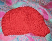 Red hat with brim