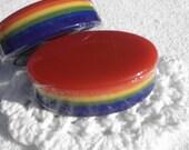 Children's Rainbow Vegan Glycerin Soap in cherry orange lemon lime rasperry huckleberry
