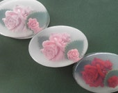 Red or Pink Rose Soap