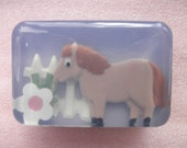 Children's Horse or Pony Soap with natural colors