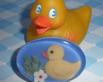 Childrens Ducky Soap with vegetable glycerin, natural colors and pure lemon essential oil