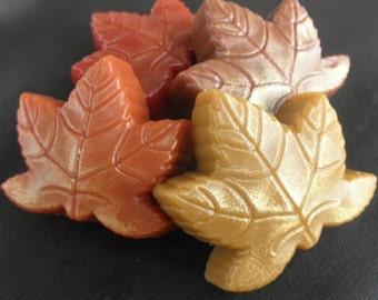 Autumn Leaf Vegan Soap in pumpkin spice autumn maple cinnamon scented