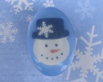 SnowMan Peppermint Glycerin Soap