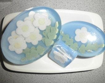 Honeysuckle Floral Soap Trio