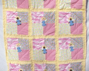 Angels Watching Over You Crib Quilt