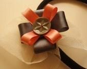 Perfect satin two colours ribbon headband