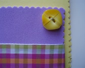 Foam Spring Blank Button Ribbon Card