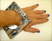 China Blue- A fabulous square decoupaged bangle-SALE