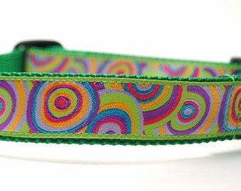 Targets Dog Collar / Bullseye in Green / Custom Dog Collar