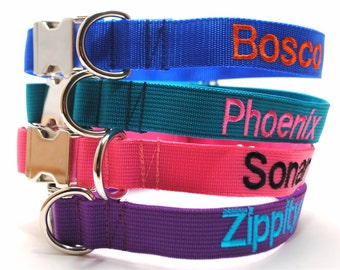 Metal Buckle Personalized Classic Solid Custom Dog Collar
