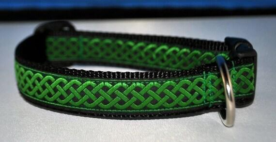 Emerald Celtic Knot - Custom Dog Collar