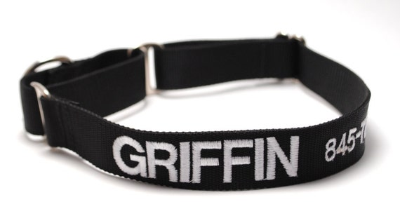Classic Solid Martingale Dog Collar - Personalized