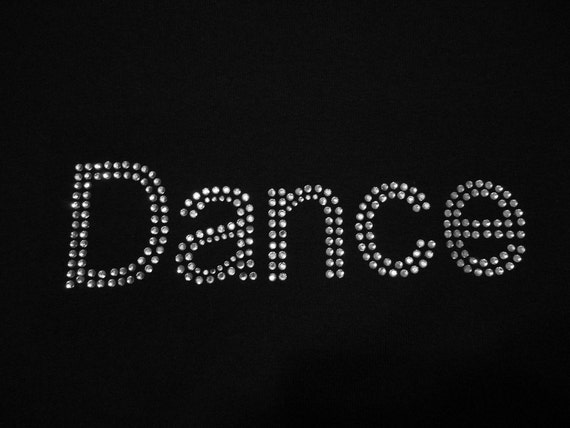 Dance Rhinestone T-Shirt,Dance Design,Dance T-Shirts,Dance Bling,Dance Tees,Ladies T-Shirts,Girls T-Shirts