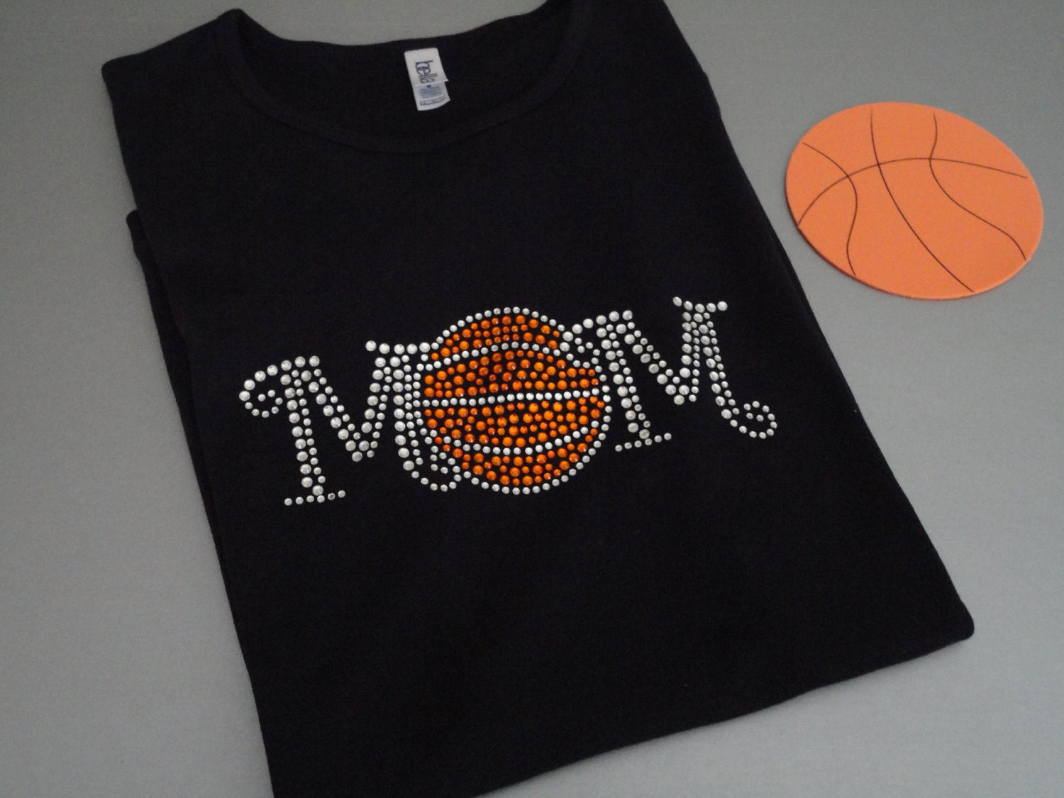 Basketball Rhinestone T-ShirtBasketball MomTeam T-ShirtsMom