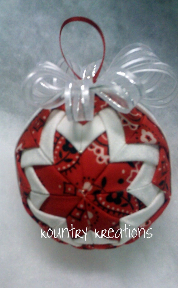 how to make handmade quilted ornaments handmade quilted ornament ready to ship 2802