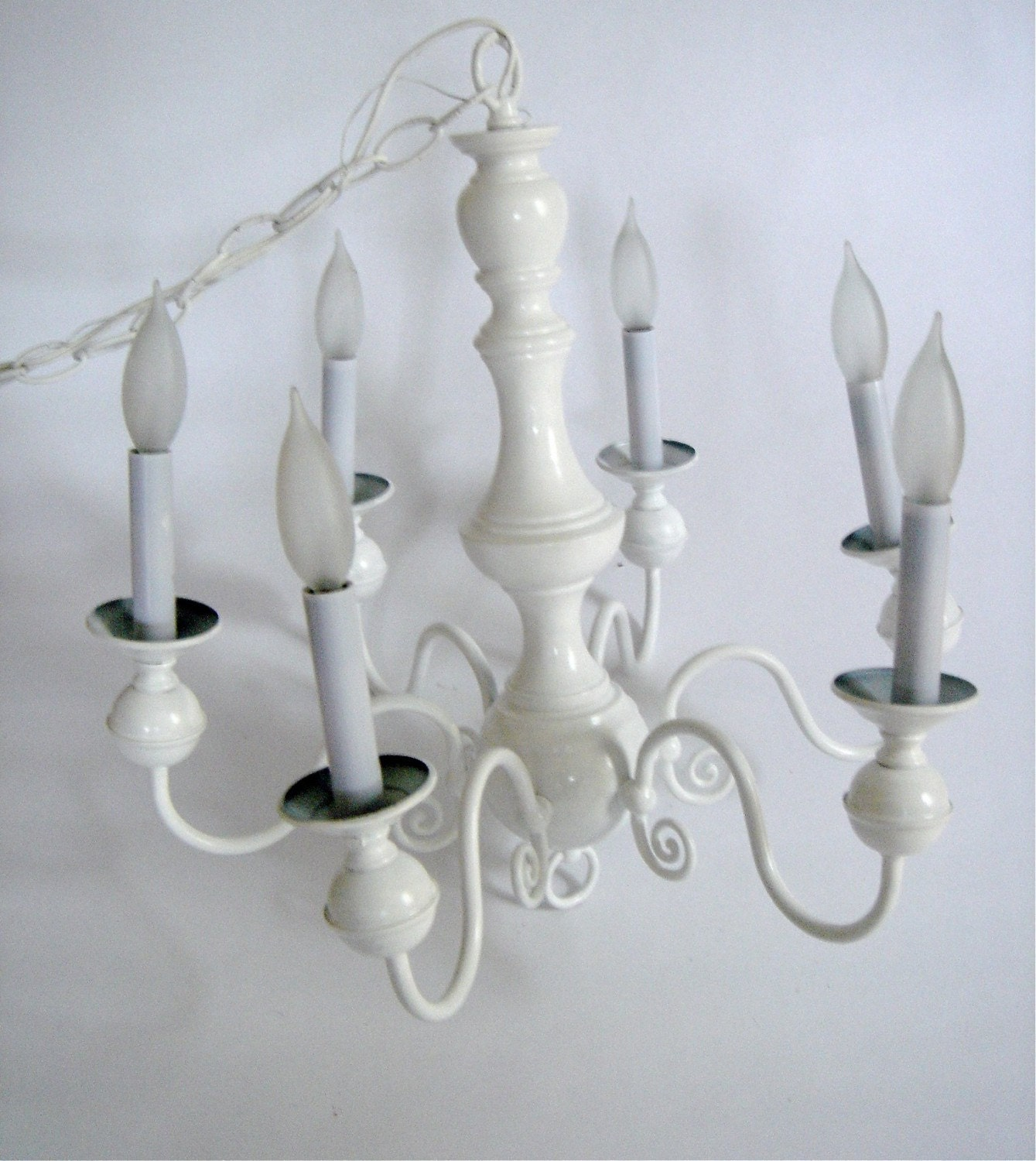 Gallery For Simple White Chandelier