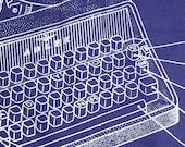 Handkerchief with Silkscreened Typewriter - Monday
