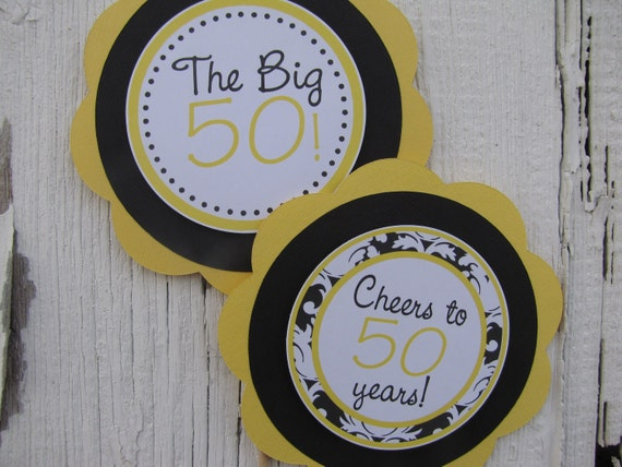 50 Birthday Party Decorations, Table Centerpiece, Birthday Party Decorations, Customized