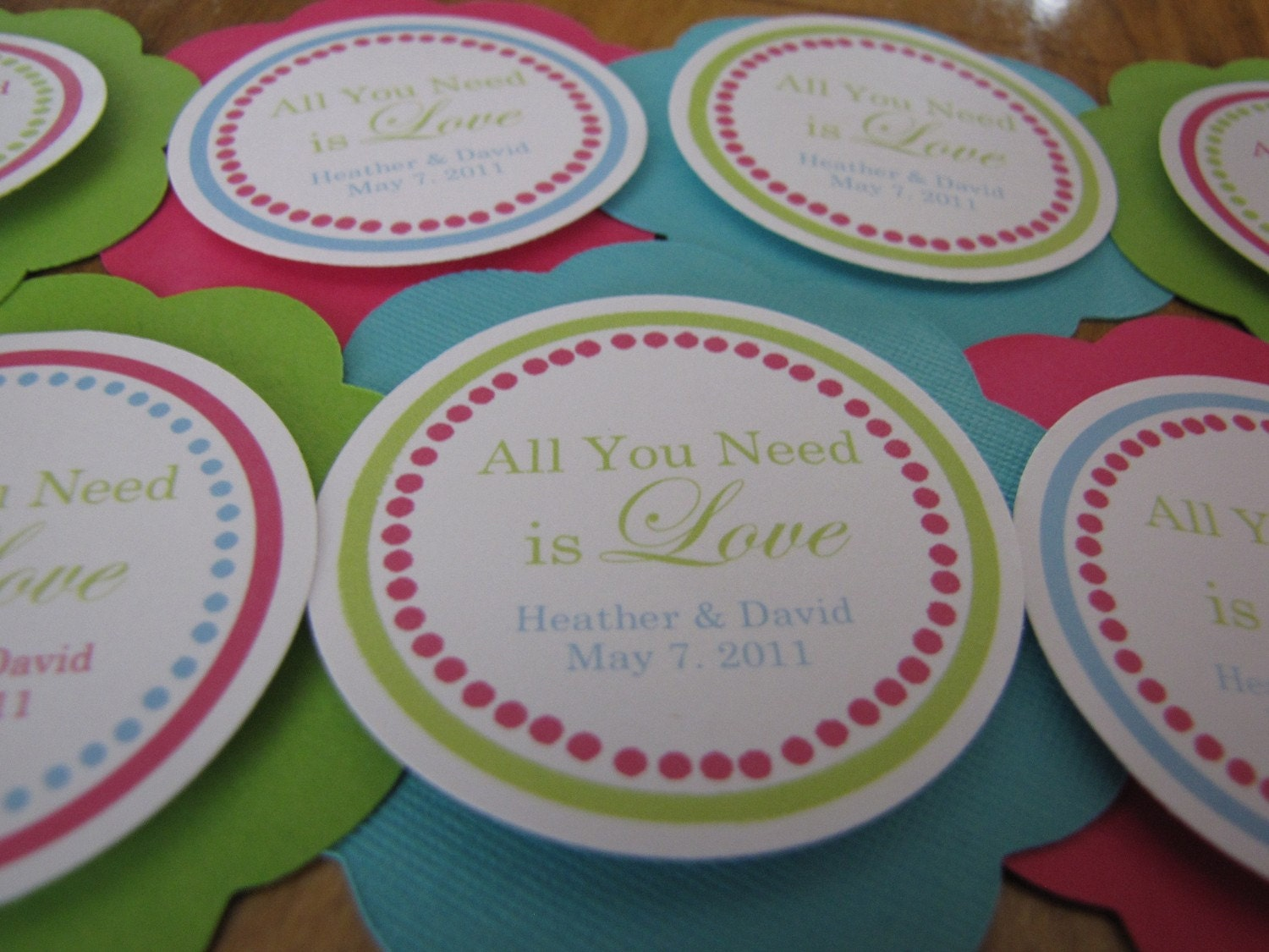 Bachelorette or bridal shower Gift Tags You Choose by designgirl16