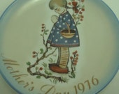 1976 Mothers Day Plate Schmid Hummel Collectible