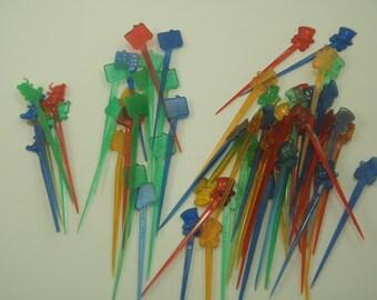 73 Vintage Party Picks Toothpicks for Hor d'oeurves or Drink garnish Martini olive pick