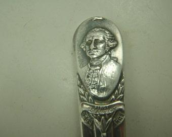 George Washingon Souvenir Spoon Silverplated Mt. Vernon Virginia