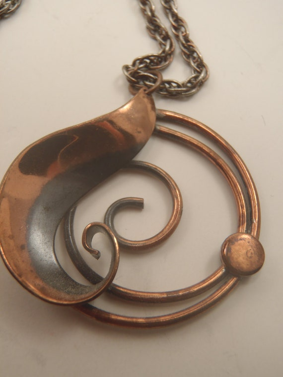 Reserved for MaryCae Copper Pendant Necklace by Bell