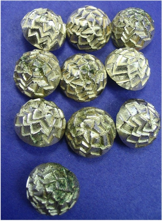 VIntage Silver Plastic Buttons