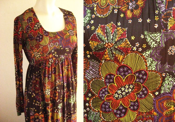Helen Whiting 1960's Maxi in Jewel Tone Colors
