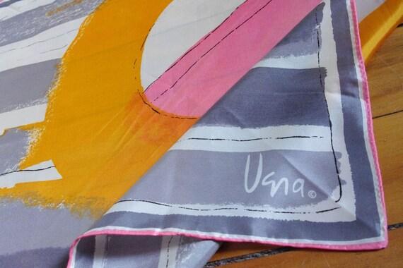 Mod Abstract 1970's Vera Scarf