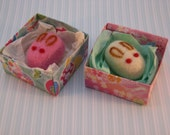 Usagi Wagashi needle felt with origami box - Unique party favor and gift