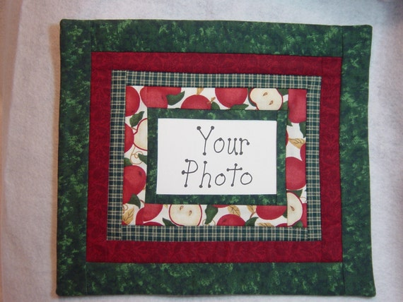 Handmade Photo Frame Wall Hanging Quilt For 4x6 By