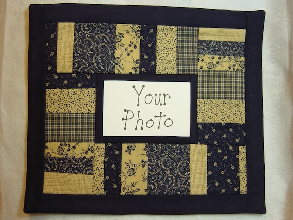 Items Similar To Handmade Photo Frame Wall Hanging Quilt