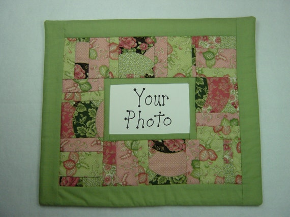Items similar to handmade photo frame wall hanging quilt for Handmade wall frames ideas
