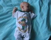 Send Us Your Old Shirt and We Will Make.... A Recycled One Piece Baby/Toddler Outfit For the Little Nut in Your Life
