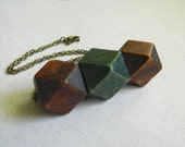 Wood Necklace, Bib Necklace, Jewelry Necklaces, Brown, Olive Gree, Rustic, Tribal Necklace, Collar de Madera, Statement Necklaces, Geometric