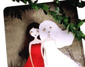 Snow-White and Rose-Red - Postcard