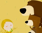 Goldilocks and the 3 Bears - Deluxe Edition Print