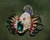 Coro - Craft  Rockfish Brooch - A Rare Beauty