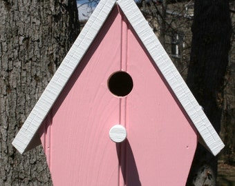 Upcycled Reclaimed Bird House/Nest Box for Bluebird, Chickadee, Nuthatch, Titmouse or Carolina Wrens, bird lovers nesting nest home