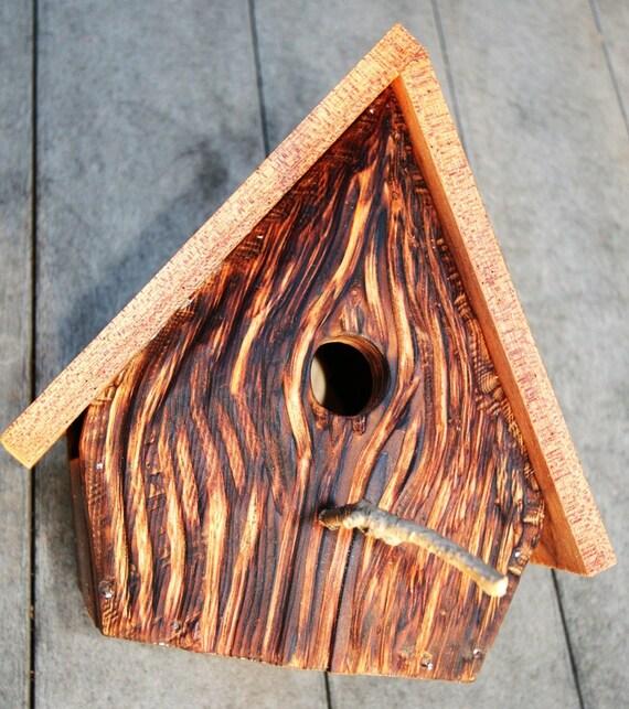 Upcycled Reclaimed Bird House Nest Box for Bluebird Chickadee Nuthatch Titmouse Carolina Wrens love birds egg nest gift for Birder friends