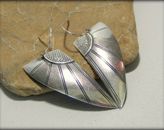 Silver Earrings, Tribal Earrings,  Native American Inspired, Ethnic Jewelry, Tribal Jewelry, Geometric Earrings, Bohemian Jewelry